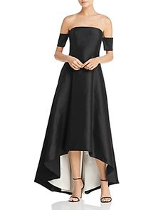 f1e1181070e8 Avery G Off-the-Shoulder High/Low Gown Women - Dresses - Evening & Formal  Gowns - Bloomingdale's