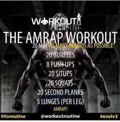 AMRAP taking this workout outside
