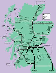 train lines in scotland map - Google Search