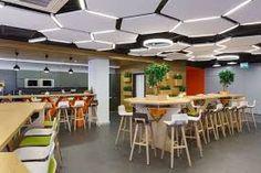 Odnoklassniki Office by BRIZ studio, Saint Petersburg - Russia Open Office Design, Workplace Design, Office Interior Design, Corporate Interiors, Office Interiors, Roof Design, Ceiling Design, Office Canteen, Office Ceiling