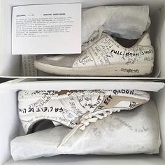 Maison Martin Margiela 2002 'Original' sneakers - customized German Army Trainiers artisanally handpainted by the Maison Margiela Team. Every pair is a 1/1 // @scottsantiago #archiveforfashion - #maisonmargiela #margielaarchives #grailed #grailed100 @maisonmargiela