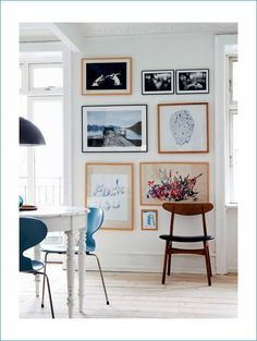 Turn your memories and/or favourite prints into a gorgeous feature wall.