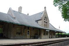 Alton Railroad Depot in Dwight Illinois  http://route66jp.info Route 66 blog ; http://2441.blog54.fc2.com https://www.facebook.com/groups/529713950495809/