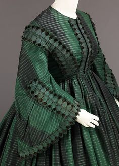 Afternoon dress silk, American 1855