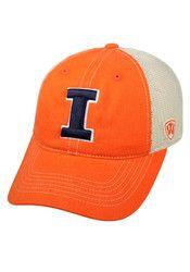Top of the World Illinois Fighting Illini Mens Orange Vintage Mesh Adjustable Hat