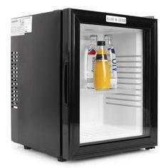 Mini-Kühlschrank MKS-13 Minibar 36 Liter Klasse B schwarz Glas 0dB