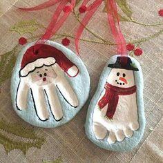 Empreinte pied/main pâte à sel