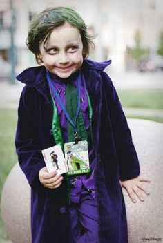 The Joker (Kid Version) by on DeviantArt Family Costumes, Baby Costumes, Cool Costumes, Costume Ideas, Cosplay Costumes, Halloween Costumes, Joker Costume, Joker Cosplay, Storybook Characters