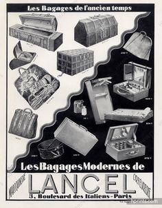 Lancel (Luggage, Baggage) 1928 Toiletries Bags, Handbag, Toiletrie Bag ... Good Advertisements, Advertising, Ads, Magazine Mode, Vintage Luggage, Toiletry Bag, Close Image, Illustration, Handbags