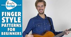 3 EASY Fingerstyle Patterns For Beginners Guitar Chords For Songs, Music Guitar, Ukulele, Blues Guitar Lessons, Music Lessons, Guitar Fingers, Teaching Channel, Guitar Notes, Dramatic Play Centers
