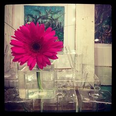 Glass Cube Vase with Stem...