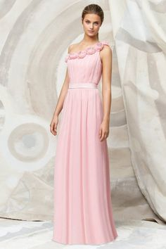 Buy Sleeveless Floor Length Hmade Flower Bridesmaid  Under 200 PQTY12FN latest design at online stores, high quality of cheap wedding dresses, fashion special occasion dresses and more, free shipping worldwide.
