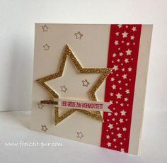 Stampin'Up!  Big Shot - Framelits Stern-Kollektion, Stanze Sternenkonfetti, Weihnachten, Weiße Weihnachten, gold Glitzer