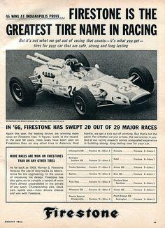 1966 Firestone Tire Advertisement Hot Rod August 1966 | Flickr - Photo Sharing!