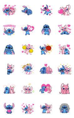 Stitch & Angel LINE Sticker - Cartoon Wallpaper Iphone, Disney Phone Wallpaper, Cute Cartoon Wallpapers, Cute Wallpaper Backgrounds, Heart Wallpaper, Black Wallpaper, Disney Drawings, Cute Drawings, Stitch Et Angel