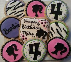 Barbie AND Zebra Cookies - Avery would be in heaven!