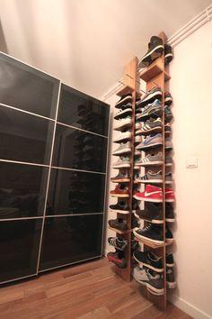 vivre heureux dans un petit espace / les étagères à chaussures Of le dahé sur withalovelikethat.fr