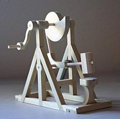 """Da Vinci's cam hammer was covered briefly here. This object was the """"object of the day"""" during the Creative Automata class at UT Dallas (Jan At the start of each… Woodworking Toys, Woodworking Projects, Fun Projects, Wood Projects, Wood Crafts, Diy And Crafts, Kinetic Toys, Kinetic Art, Marble Machine"""