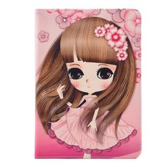 IPad case with cute girl pattern for