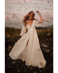 """My personal favorite from the ""Eternal Romance"" campaign for @the_dreamers_lovers, featuring their kimono dress + lots of feathers."""