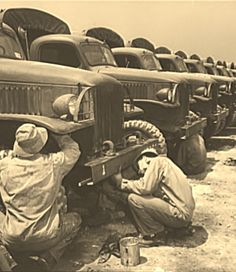 Fort Knox. Maintenance of mechanized equipment. Army trucks and other vehicles at Fort Knox, Kentucky, are checked thoroughly, and at regular intervals. Wherever possible, motorized military equipment is maintained in constant tip top shape, instantly ready for strenuous action 1942