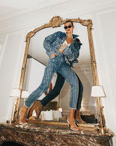 All-Denim Fall 2019 trend: how to wear a canadian tuxedo this season! Creative Photography, Fashion Photography, Beauty Photography, Photoshoot Inspiration, Style Inspiration, Photographie Portrait Inspiration, Fashion Poses, Amazing Women, Editorial Fashion