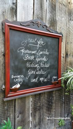Chalkboard from a Mirror Frame
