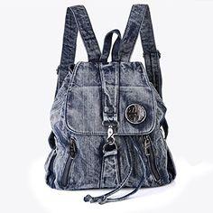 Denim Backpack, Denim Purse, Backpack Purse, Fashion Backpack, Tote Bag, Jean Crafts, Denim Crafts, Mochila Jeans, Bag Patterns To Sew
