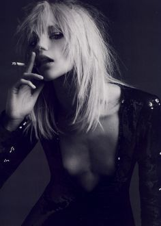 Sasha Pivovarova by Hedi Slimane for Vogue Paris April 2008