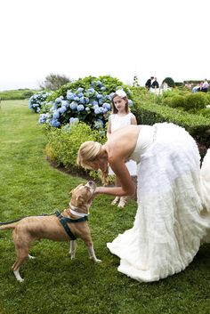 We love the idea of incorporating your family pet into your wedding. #petfriendly
