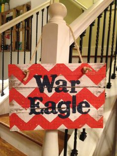 War Eagle Auburn Pallet sign door hanger by NCRDesign on Etsy, $35.00