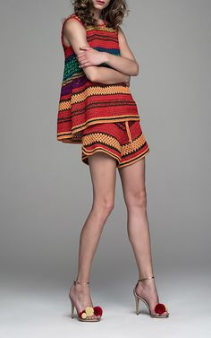 Scoop back design Hand crochet construction Pullover style Composition: 100% silk Color: multicolor