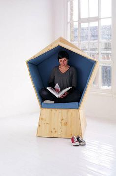 Pentagon-Shaped Cocoon Seating - Quiet by TILT Provides Much-Needed Personal Space
