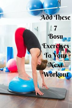 Add These 7 Bosu exercises to your next strength training workout 7 Bosu exercises to add to your next strength training day Strength Training For Runners, Strength Training Workouts, Training Day, Bosu Workout, Cardio Workouts, Abc Workout, Summer Workouts, Swimming Workouts, Swimming Tips