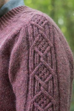 Wuthering Heights pattern by Les Tricoteurs Volants Men's cables sweater knitting pattern. Wuthering Heights knitting pattern by Les Tricoteurs Volants knitted using The Fibre Co. Mens Knit Sweater Pattern, Mens Cable Knit Sweater, Sweater Knitting Patterns, Knit Patterns, Stitch Patterns, Cable Knitting, Free Knitting, Wuthering Heights, Lana
