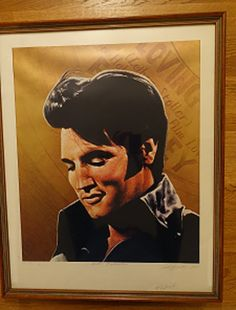 Elvis Limited Edition Framed Print signed by by OnlineAntiquesuk