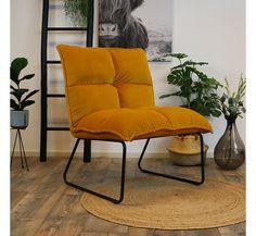 Sofa Design, Furniture Design, Malaga, Modern Armchair, Yellow Armchair, Velvet Armchair, Minimalist Furniture, Home And Living, Living Room Decor