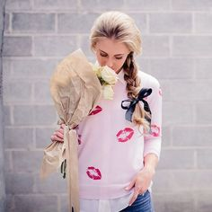 Valentines Day Idea: DIY Kisses Sweater
