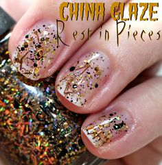 REST IN PIECES - China Glaze Apocalypse of Colour Nail Polish Swatches