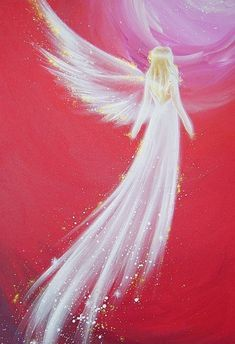 """Guardian Angel Art Photo """"To the love"""" Christmas Gift Ideas for Her, Wife Best Friend. Apartment Decor Based on Original Acrylic Painting - Limited angel art photo to the love modern angel by HenriettesART - Art Painting, Photo Art, Angel Pictures, Painting Inspiration, Painting, Canvas Art, Canvas Painting, Angel Art, Angel Painting"""