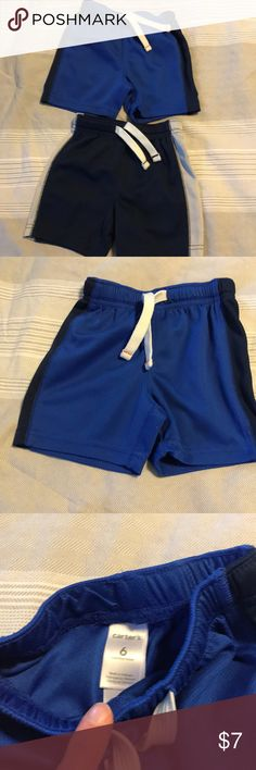 2 Pairs of athletic shorts/Carter's Carters 2 pairs of GUC athletic shorts! My little guy loved these... super comfy!! Carter's Bottoms Shorts