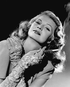"""Rita Hayworth as the title character in """"Gilda."""" Description from vintagemoviestarphotos.blogspot.com. I searched for this on bing.com/images"""