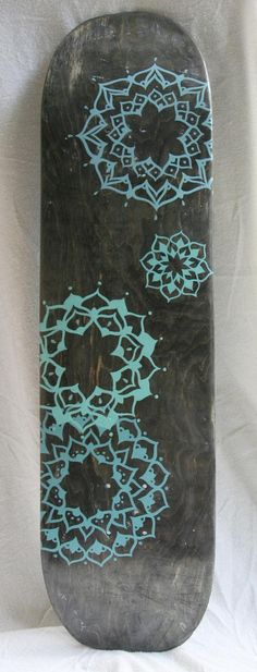 Original Hand Painted Mandala Skateboard by mariahliisa on Etsy, $100.00