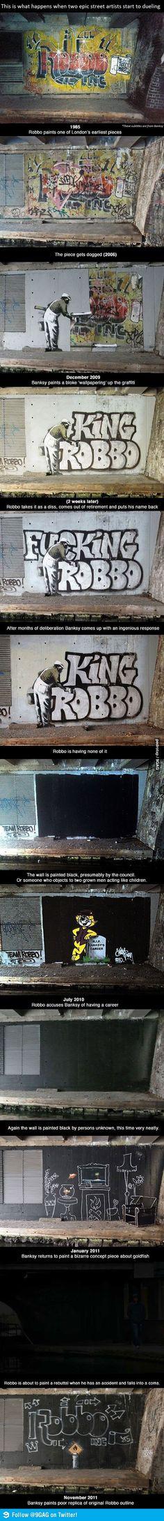 Banksy vs. Robbo, faith in humanity...