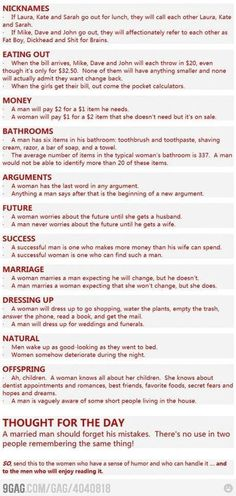 Men vs women lol