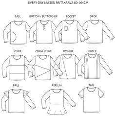 Kaava: Every day lasten paita