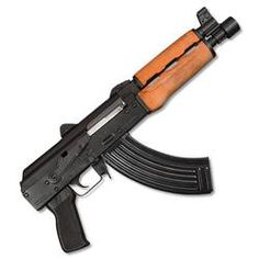 "Zastava PAP M92 AK-47 pistol with 10"" barrel is ready to SPR or add a pistol stabilizing brace. This Century AK has a classic wood handguard, Krinkov rear sight and a hinged top cover. Click the picture to get one. #ak47 #pistols #akpistol"