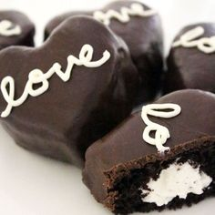 You've got to try these homemade, cream-filled chocolate heart cakes...think Ding Dong.