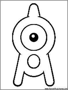 Pokemon Unown A Coloring Page
