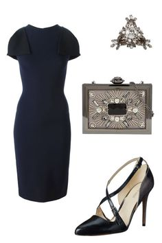 A boss-lady sheath and pointy-toe pumps works for a boardroom presentation and a romantic dinner, plus champagne nightcap. Christopher Kane Flap Sleeve Pencil Dress, $464; farfetch.comGivenchy Cocktail Ring, $765; net-a-porter.comAldo Windflower, $60; aldoshoes.comNine West Earnest, $89; zappos.com